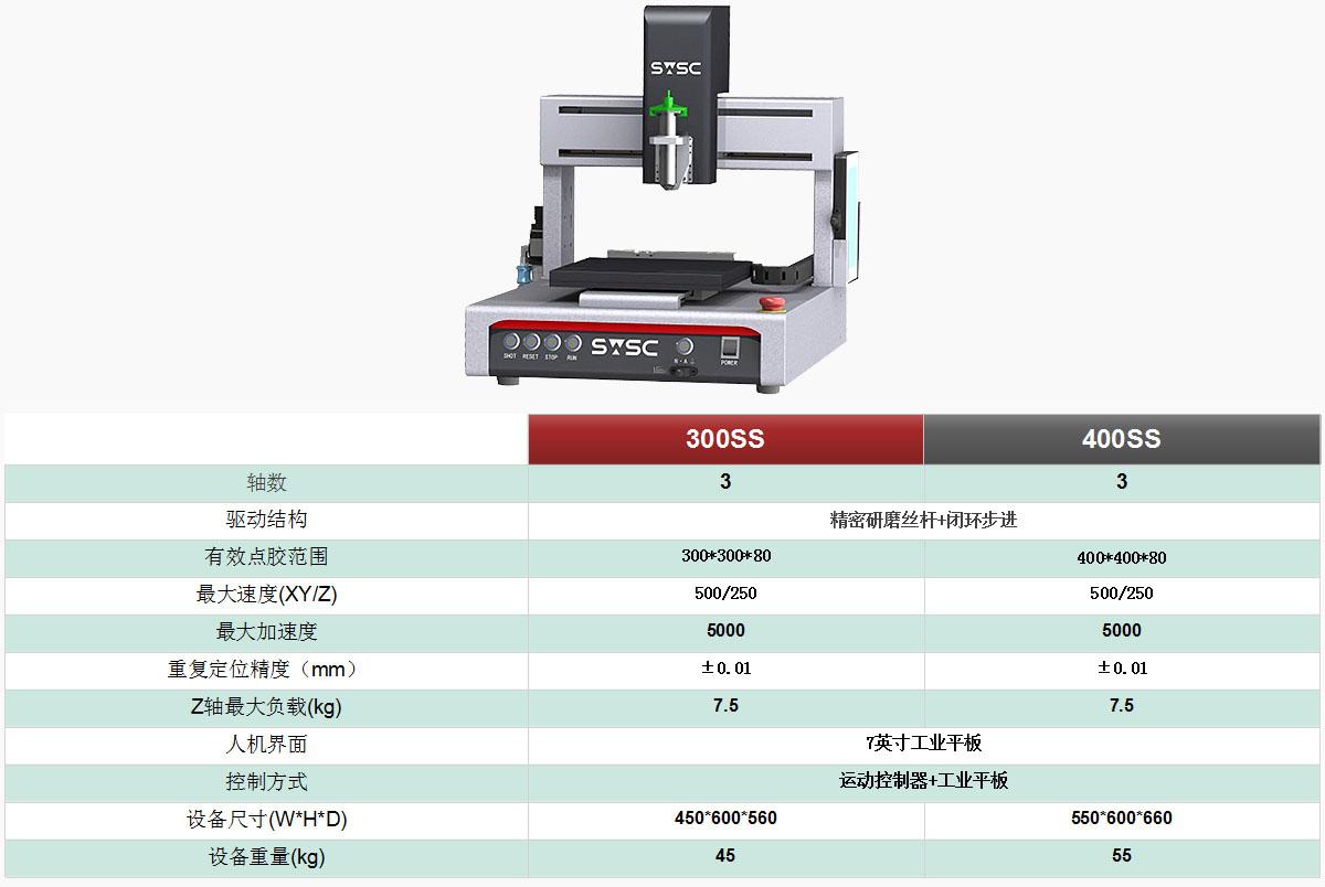 深微智控SWSC 300SS全自动桌面式点胶机器人