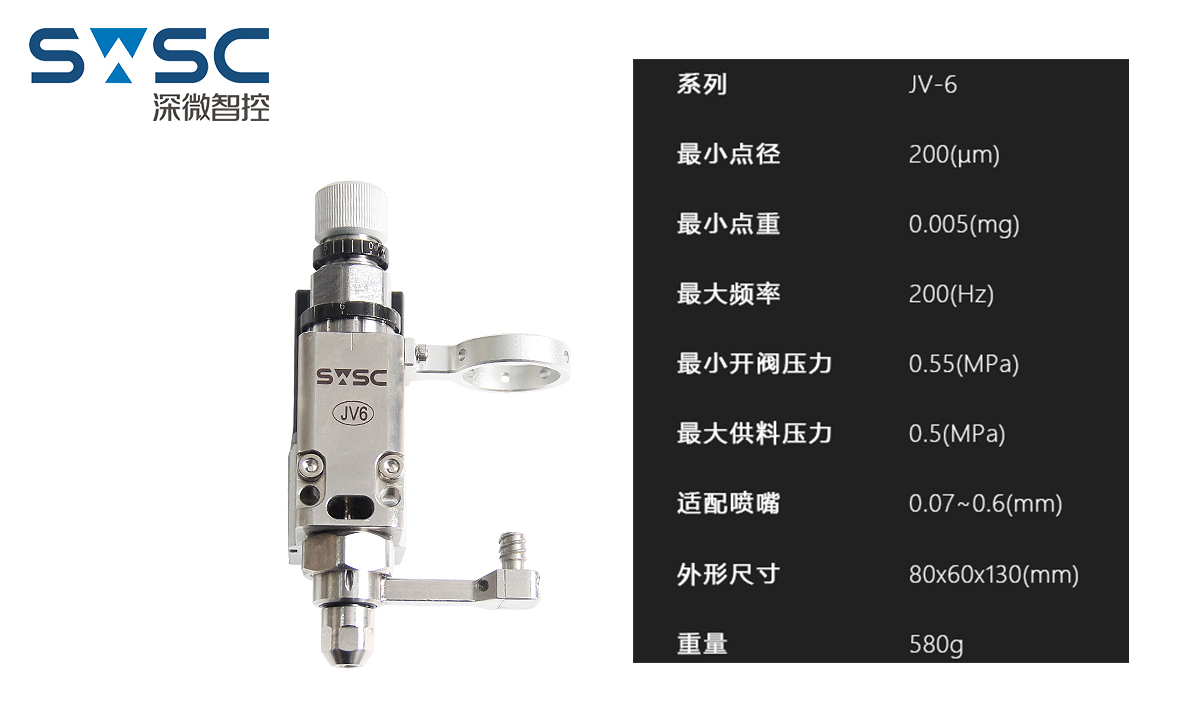 深微智控SWSC精密电磁喷射点胶阀VBT-JV6